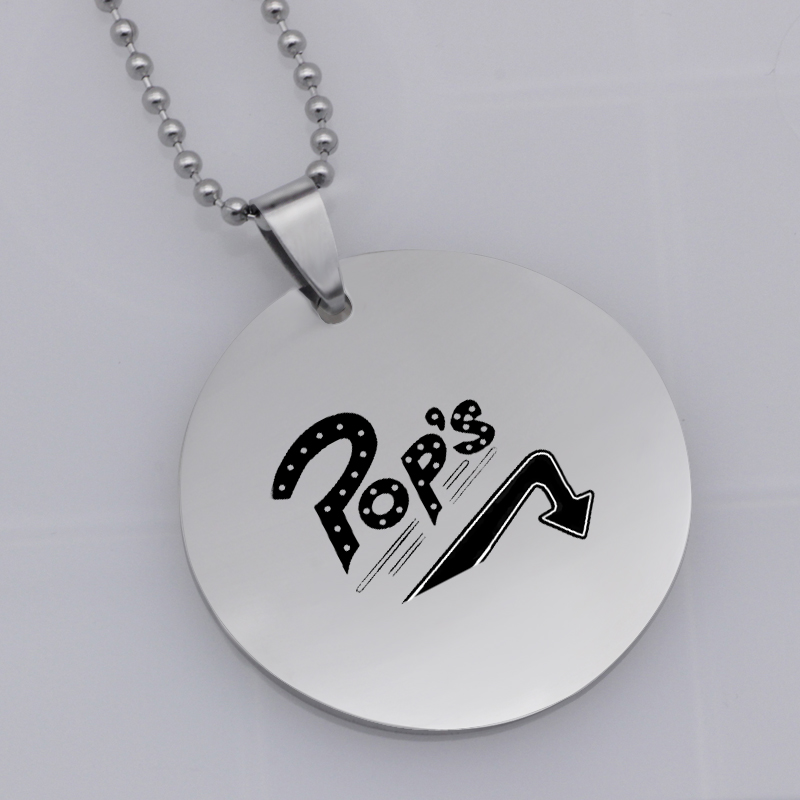 Ufine FPS Game pendant fortnite Pops TURNING pendant stainless steel jewelry necklace Customed words or name necklace N467
