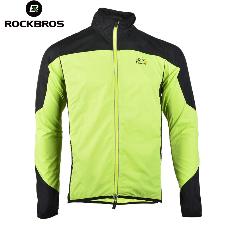 Cycling Rockbros Cycling Outdoor Sports Jersey Wind Coat Jacket Long Sleeve Black S-4xl