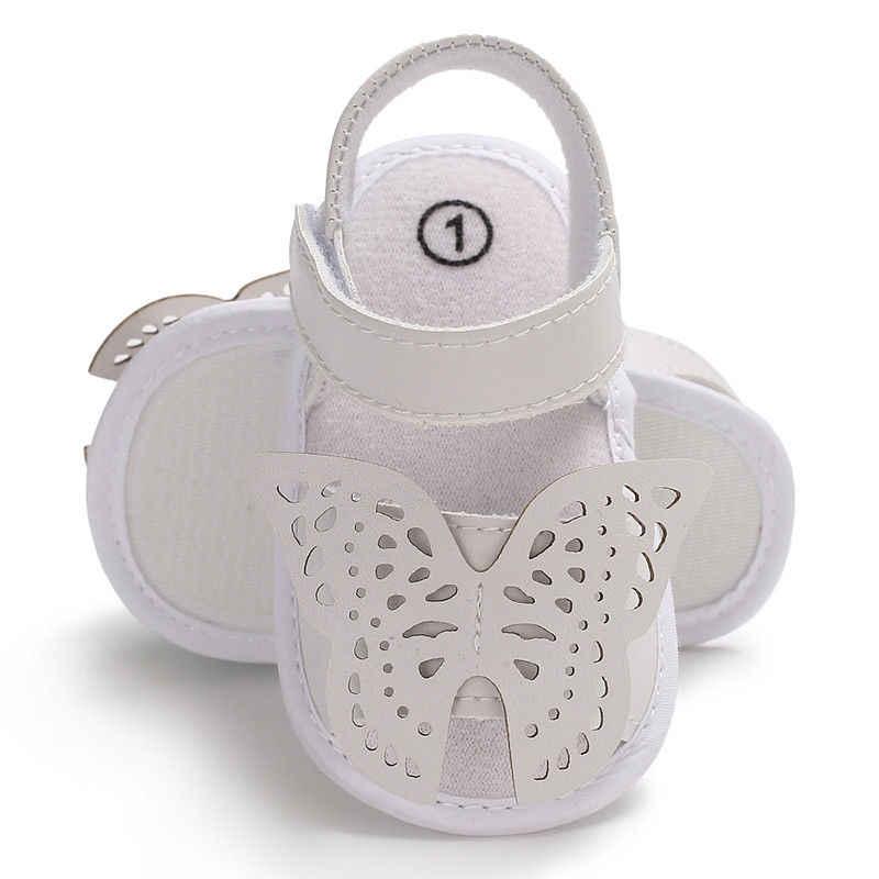 ¡Novedad de 2018! zapatos de suela blanda para bebé recién nacido, niño pequeño, niño pequeño, niña, zapatos de cuna bonitos con diseño de mariposa, sandalias, zapatos de verano