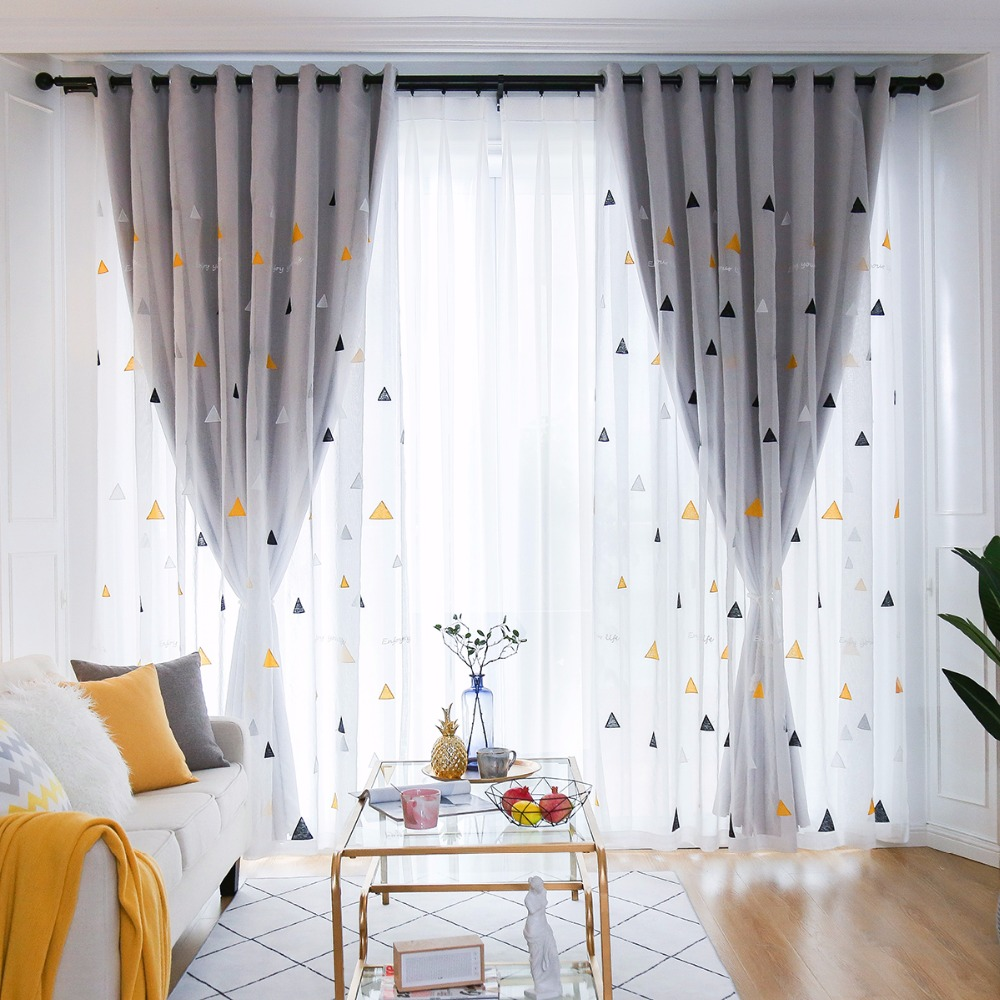 check MRP of double layer curtains
