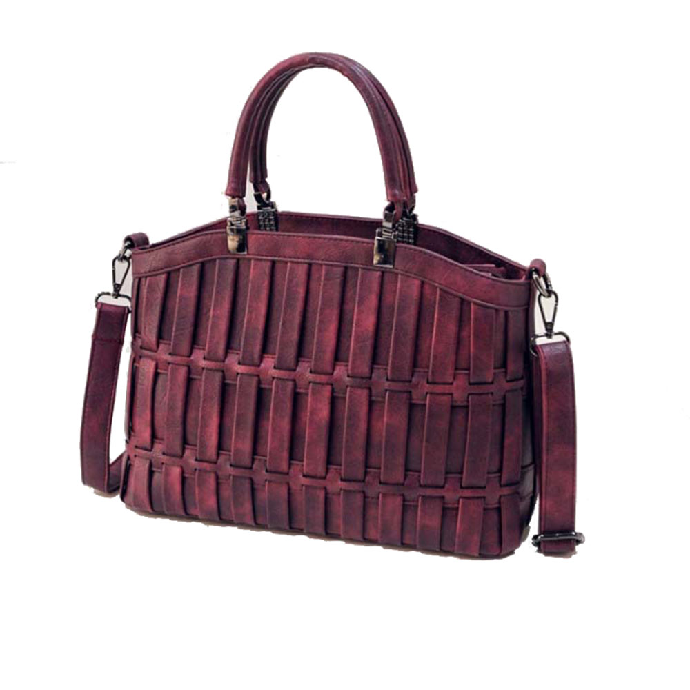2016 Women Leather Handbag Fashion Totes Casual 3D Striped ...