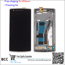 100% original! LCD screen Display+Touch Digitizer with frame For OnePlus ONE 1+1 BLACK COLOR free shipping+test OK!
