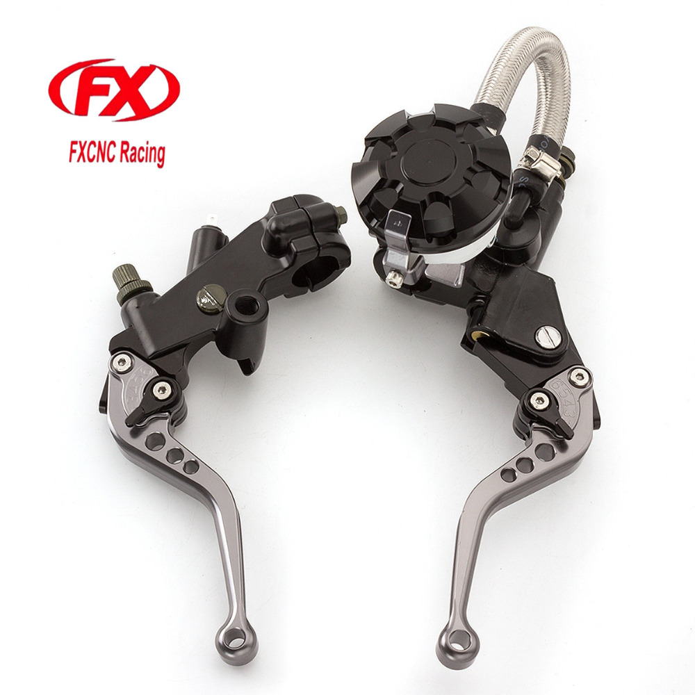 FX CNC 7/8 Motorcycle Brake Clutch Lever Master Cylinder Reservoir Hydraulic For Yamaha MT125 2015 - 2016 Motorcycle Accessorie fx cnc 7 8 motorcycle brake clutch lever master cylinder reservoir hydraulic for hyosung gt250r 2006 2010 2009 2008 2007