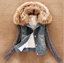 casaco jaqueta feminina 2017 coat Female winter Joining together Jean jackets women basic coats spring short bomber jacket