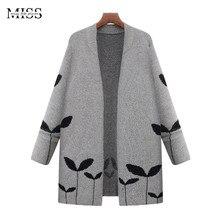 Missfebplum 2017 женские длинные кардиганы и пончо трикотажные Открыть стежка кардиган женский плюс Размеры повседневная верхняя одежда куртки кашемира