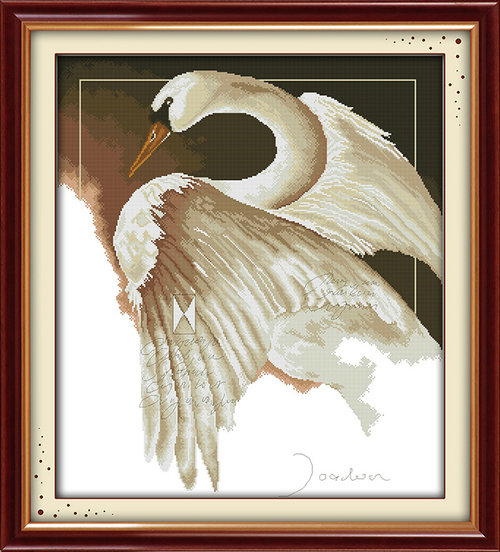 A swan duck animal painting pattern Counted or Stamped Cross-Stitch Needlework DIY DMC Cross stitch,Sets For Embroidery kits