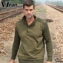 V JEAN Men's Mock Neck Henley Sweater #9A712