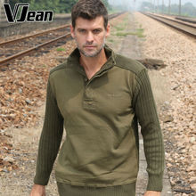 V JEAN Men's Mock Neck Henley Sweater #9A712