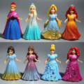 Brinquedos Para O Miúdo 8 pçs/lote Moda Dos Desenhos Animados da disney Filmes Congelado Anna Elsa Princesa Action Figure Dolls Para Crianças Meninas Brinquedos presentes