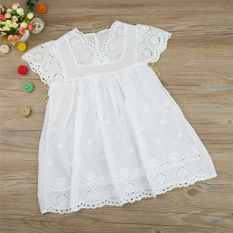 MUQGEW 2018 hot! Fashion Clothes Hot Selling Children Clothing Kids Baby Girls Floral Print Lace Princess Hollow Dress Sundress