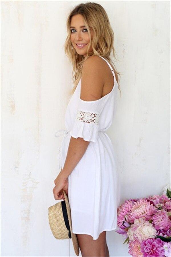 Magnfico Vestidos Blanco Para La Playa Coleccin Ideas para el