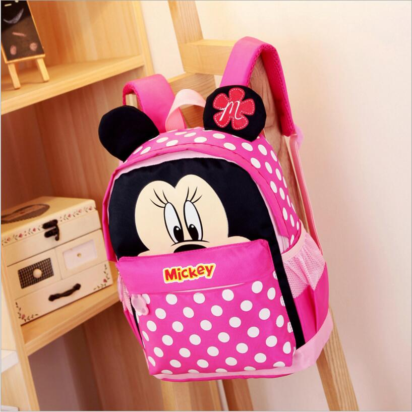 Wholesale Kids bag Kindergarten Children Cartoon Mickey School Bags Minnie Backpack Waterproof Schoolbags Satchel