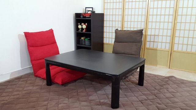 Legs Foldable Kotatsu Table Rectangle 105x75cm Living Room Furniture Foot Warmer Heated Low Anese Coffee