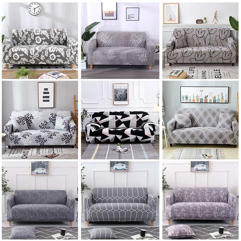 US $11.11 11% OFFAll Grey Color Printed sofa cover stretch sofa covers  slipcovers love seat Couch cover for living home decorationsofa cover