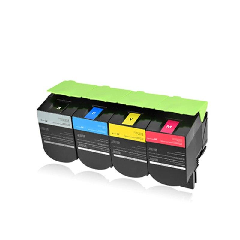 for Lexmark CX310dn CX410de CX511dte CX511de CX510de Printer Color Toner Cartridge Compatible 80C8HKO with Chip BK/C/Y/M Choose compatible toner chip reset for lexmark x945 x940 color laser printer refill cartridge oem x945x2kg cg mg yg
