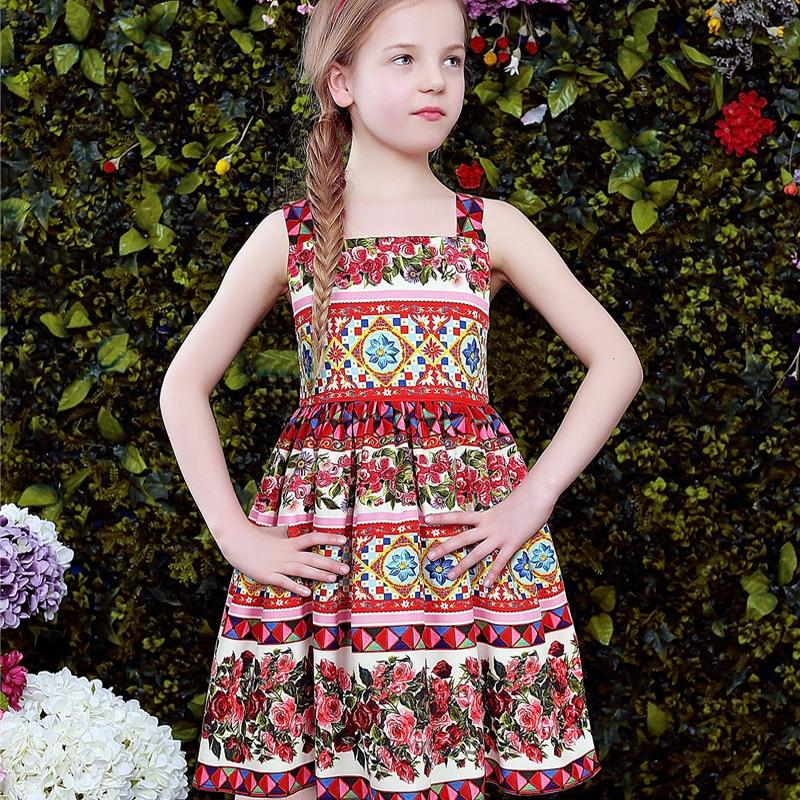 ФОТО Girls Clothes Party Princess Dress Brand Designer Girls Costumes Bohemian Ethnic Flower Girl Dresses Robe Mariage Fille Enfant