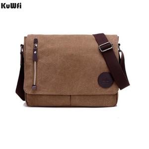 Image 2 - New Arrival Men Laptop Shoulder Bag Mens  Canvas Business Computer Bag luxury Designer Briefcase File package Travel Leisure