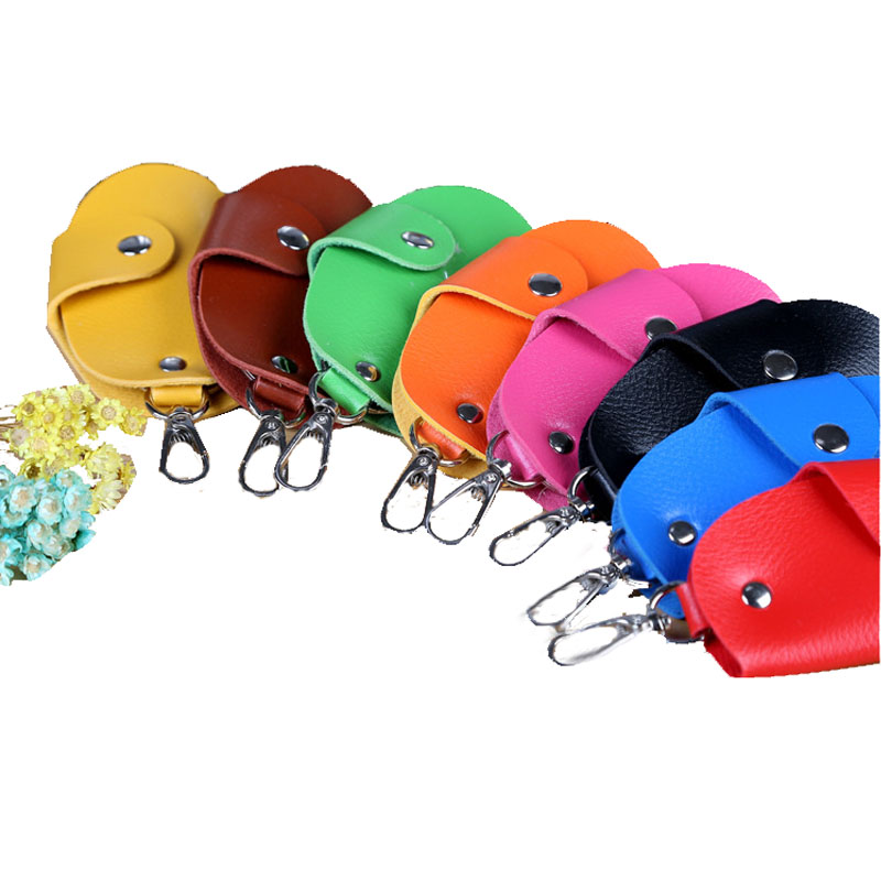 Men Car Key Case Holder PU Leather Keys Chain Wallet Key Organizer Bag For Housekeeper Women Men Portable Key Ring Bag Pouch