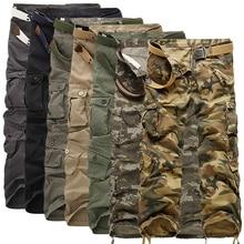 2017 новое прибытие высокого качества мужская мода длинный хлопок брюки-карго, повседневная полные штаны. семь цветов. большой размер 29-40