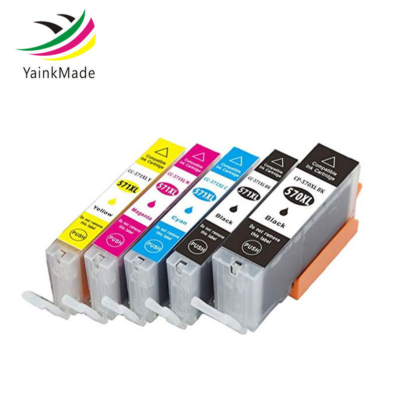 PGI-570XL CLI-571XL PGI 570 Compatible Ink Cartridge For Canon PIXMA <font><b>TS5050</b></font> TS5051 TS5053 TS5055 TS6050 TS6051 TS6052 printer image