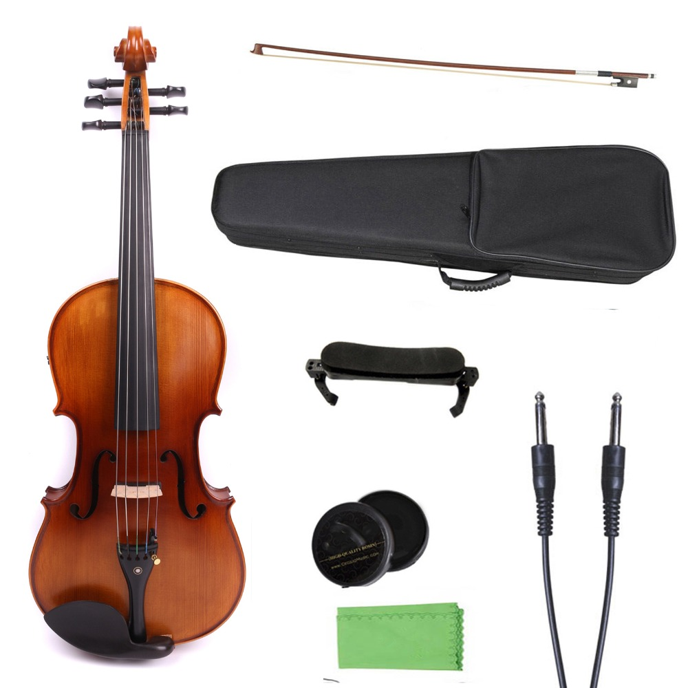 Yinfente 16 inch viola 5 string electric viola Spruce Maple ebony Fittings free viola case bow valentino nuances viola 8x50