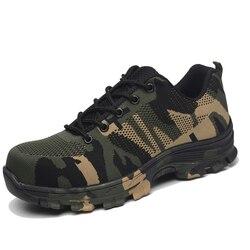 Stali nierdzewnej buty z palcami bezpieczeństwa buty dla mężczyzn buty bezpieczeństwa pracy letnie oddychające trampki