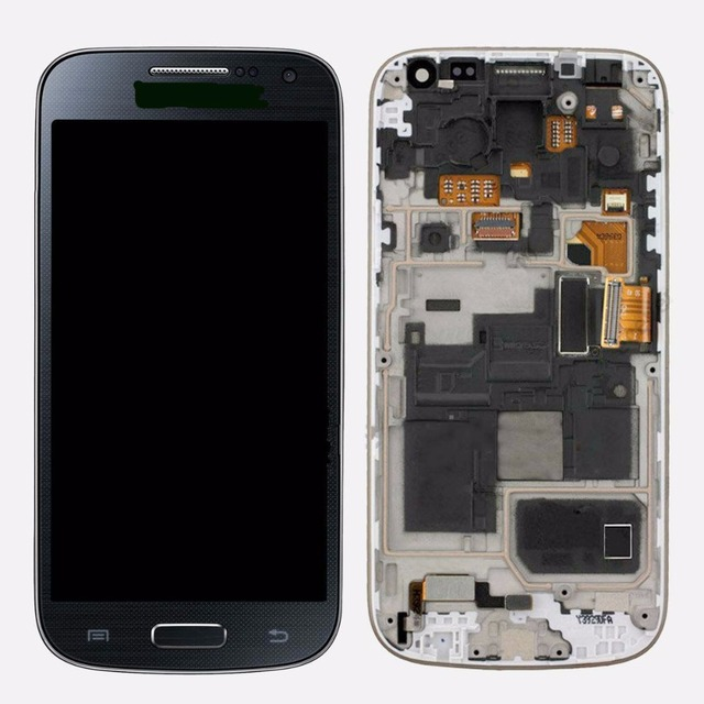 Brand new For Samsung Galaxy S4 mini I9190 i9195 LCD Display Touch Screen Digitizer Assembly with frame Blue Color