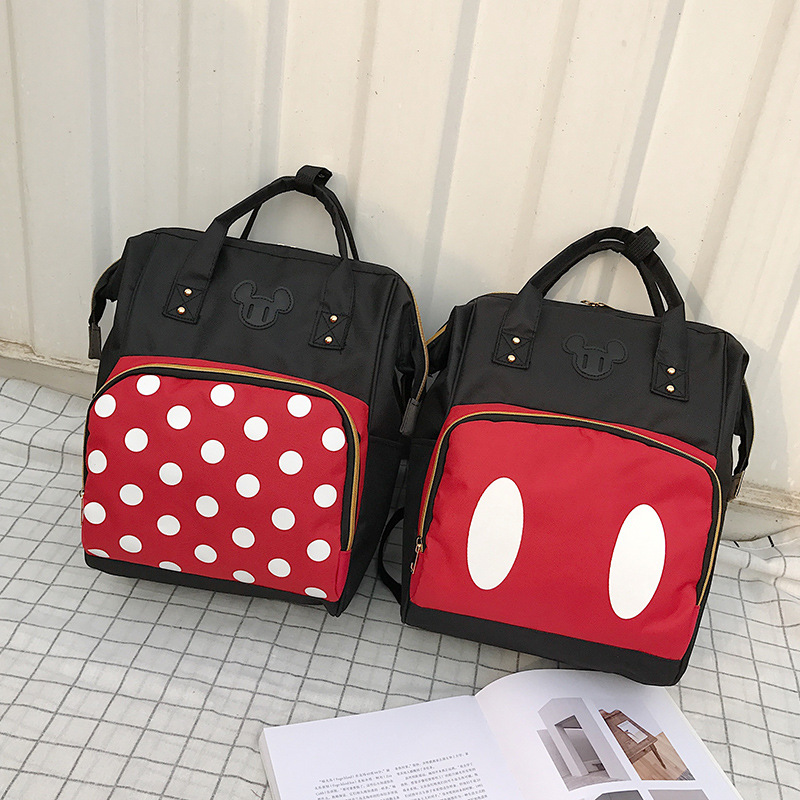 New Disney Backpack Computer Bag Backpack Female Canvas Bag Mickey Mouse Backpack Bag