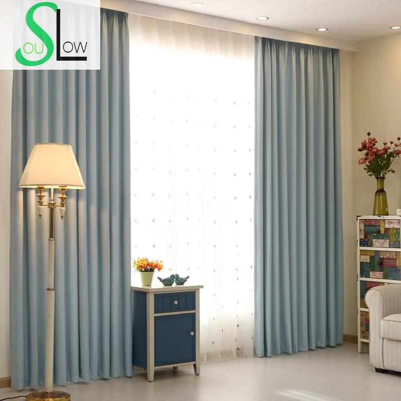 Navy Tea Green Fruit Color Chocolate Brown RiceKoreanThick Curtains Hotel Customization For Living Room Kitchen Bedroom Cortinas
