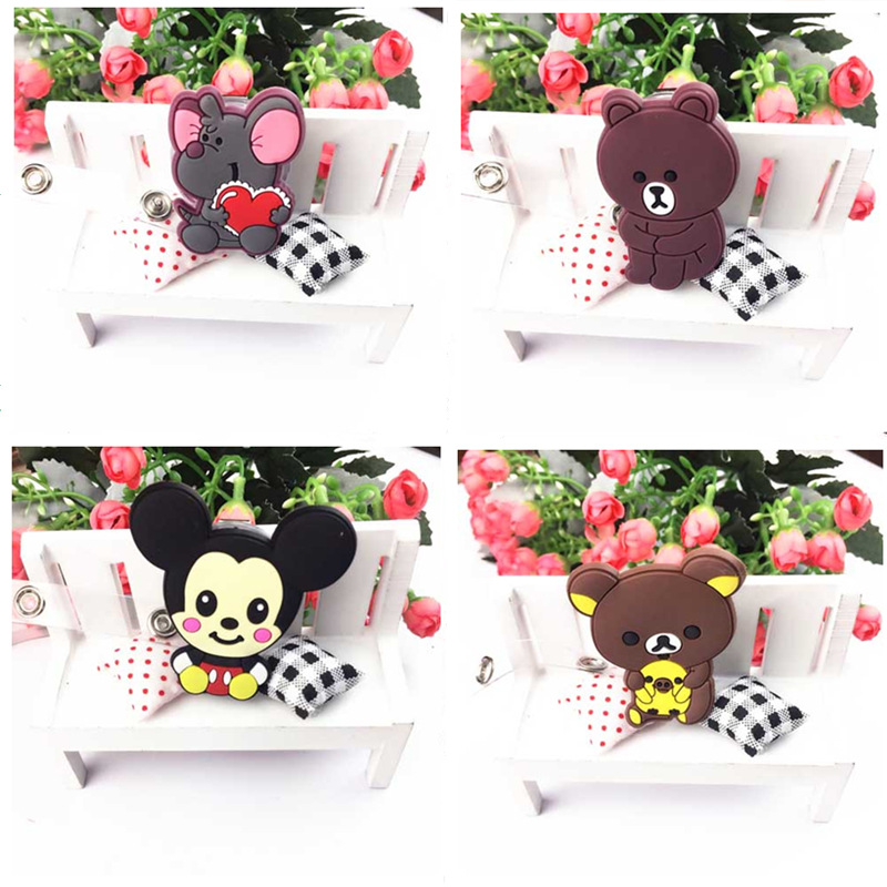 Porta Gafete Mickey Pull Credenciales Porta Credencial Stitch Silicone Pull Stitch Buckle Mickey Various Buckle Badge Holder 1C in Badge Holder Accessories from Office School Supplies