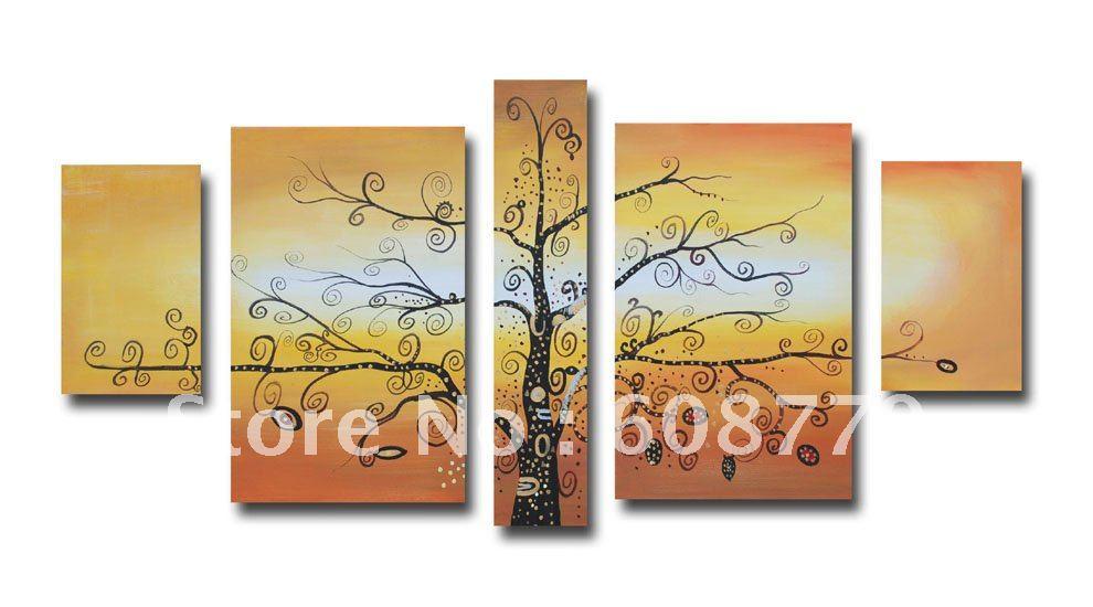 Livraison gratuite de haute qualité encadrée abstraite peinture à l'huile art mural