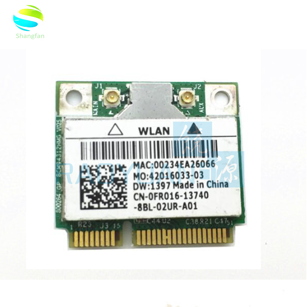 Wireless Adapter Card for Broadcom BCM94312HMG BCM4312 Wifi Half Mini pci-e card for DELL DW1397(China)