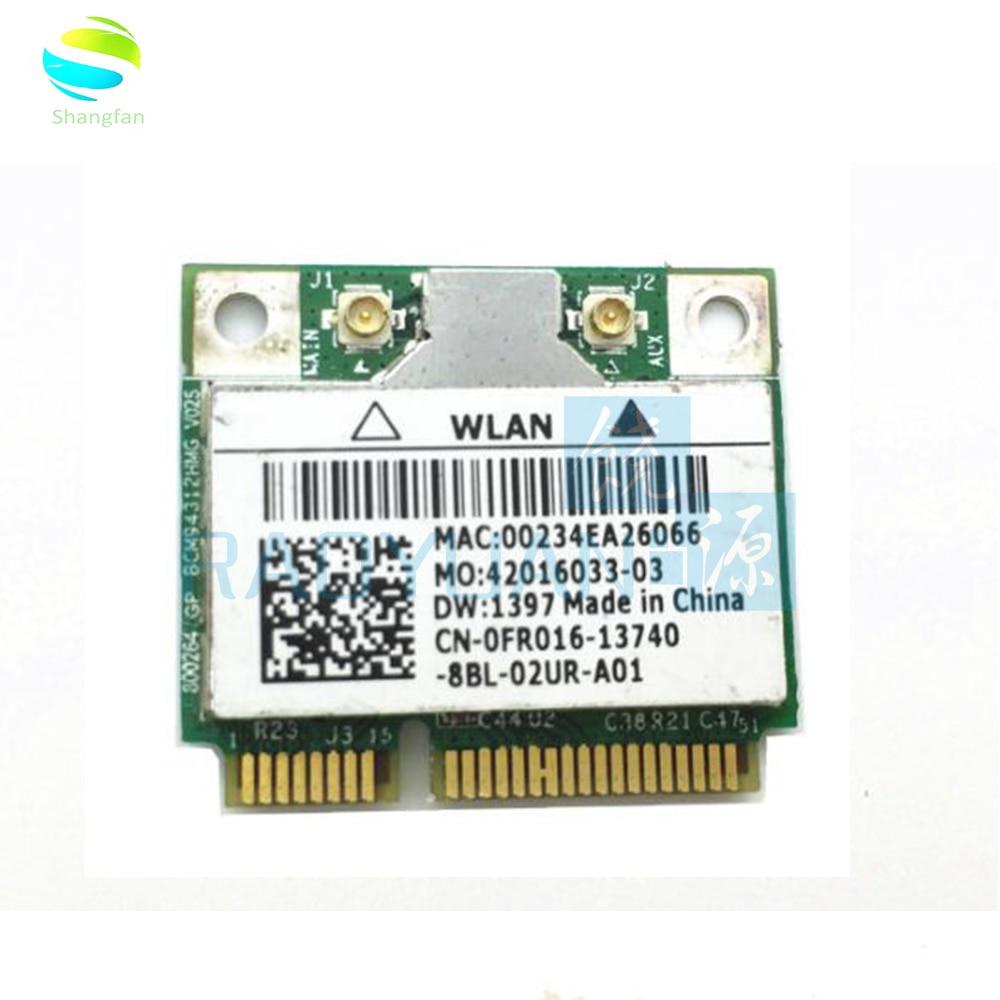 Wireless Adapter Card for Broadcom BCM94312HMG BCM4312 Wifi Half Mini pci-e card for DELL DW1397(China)