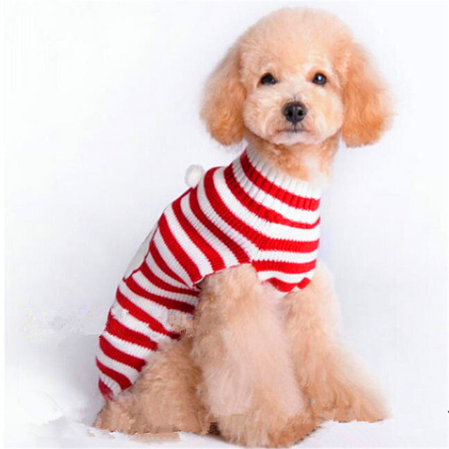 Christmas Dog Clothes Sweater Clothes for Small Dogs