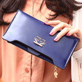 Money Clip Wallet Zipper Button Solid Purse Wallets Fashion Women Synthetic PU Leather Clutch Basic Coin Case