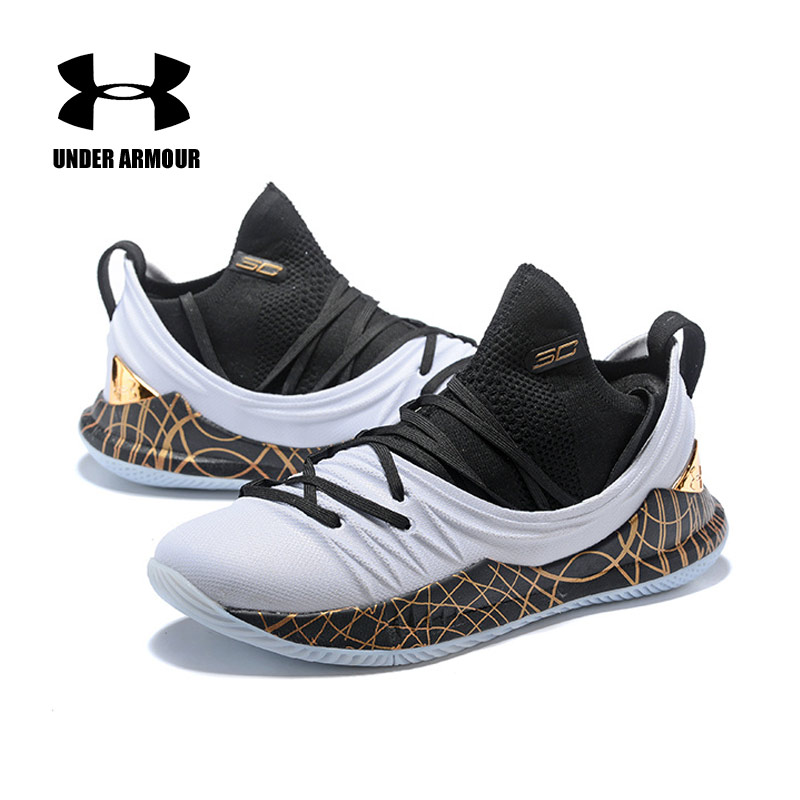 new styles b6160 12765 US $44.35 22% OFF|Aliexpress.com : Buy 2018 Under Armour Basketball Shoes  Men UA Curry 5 Anti Slip Sport Sneakers Men Outdoor Low Top Unique Socks ...