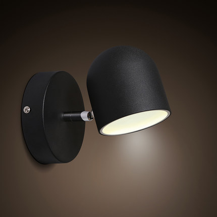 Simple Iron Modern Wall Sconce Creative LED Wall Light Fixtures For Home Lighting Touch Switch Bedside Wall Lamp Integrated simple style with usb switch modern led wall light fixtures read bedside wall lamp fabric shade iron wall sconce home lighting