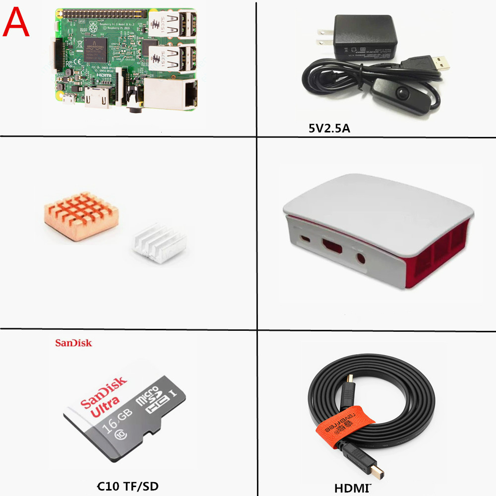 Raspberry Pi 3 generation of B 1.2G Raspberry Pi Model 3B Bluetooth WiFi suite package mail
