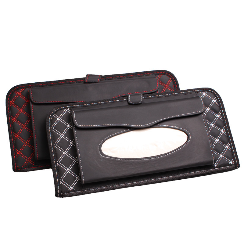 Skillful Knitting And Elegant Design Automobiles & Motorcycles Symbol Of The Brand Red Wine Double Layer Cd Folder Triple Bagboard Wardrobe Sun Visor Paper Towel Pumping Tissue Box To Be Renowned Both At Home And Abroad For Exquisite Workmanship