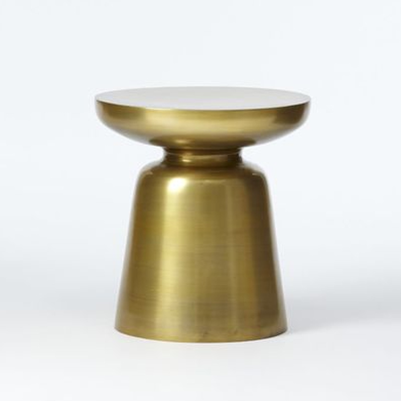 Metal Round End table with Brass Finished 44 CM Height eyelets metal with washer grommets anti brass round 14 sets 40 mm m48