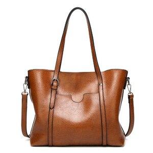 Image 2 - Bolso de lujo de piel suave para mujer, bandolera para mujer, grande, inclinado