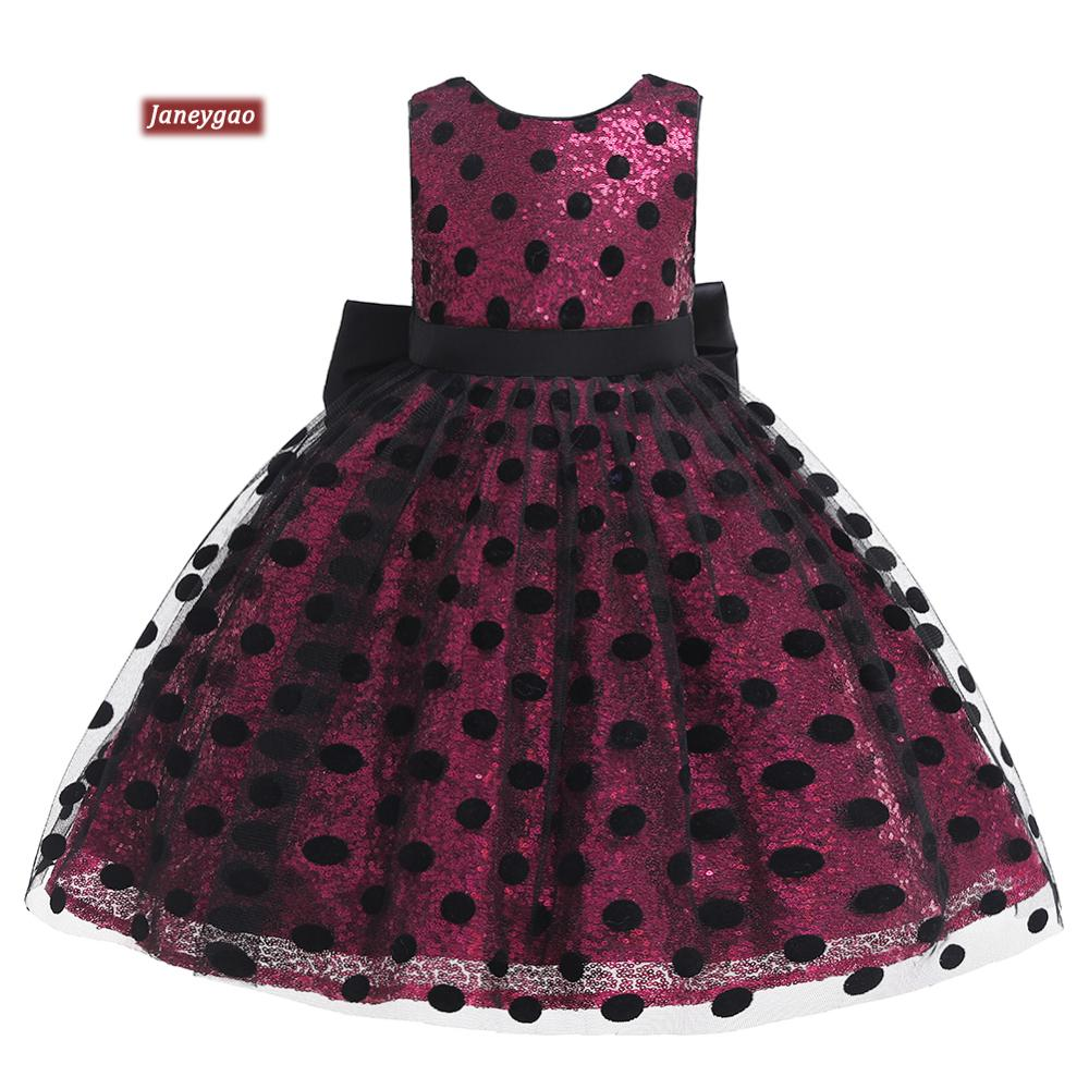 JaneyGao   Flower     Girl     Dresses   For Wedding Party baby princess   dress   2019 sequins new explosion children's dr