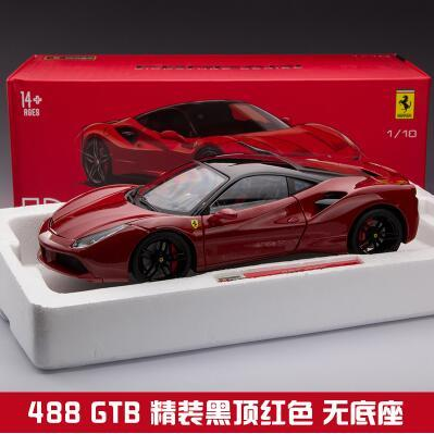 New 488 GTB 1:18 F488 car model Original Bburago diecast metal alloy Collection gift boy  Italy supercar  red  Fast & Furious