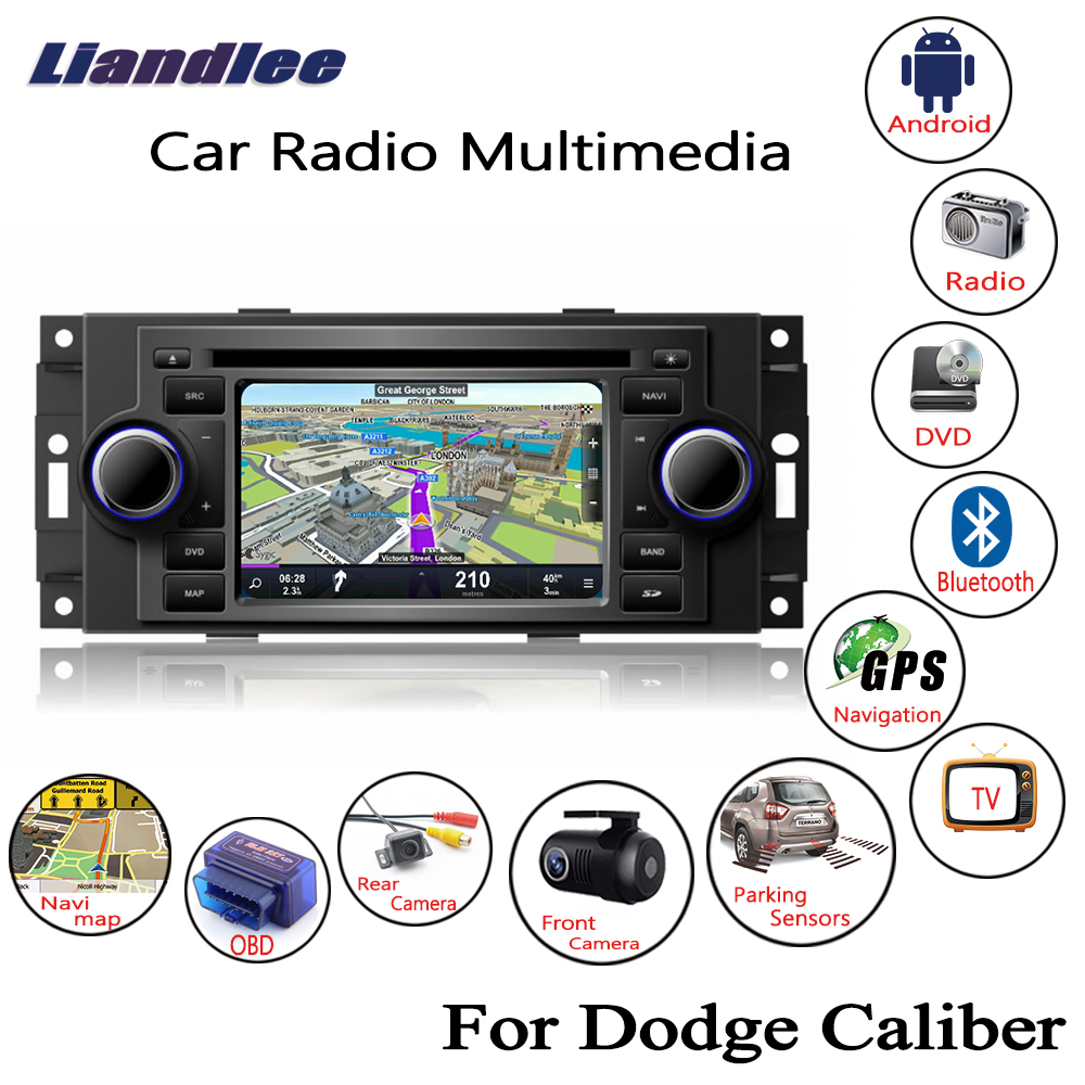 Liandlee Per Dodge Caliber 2007 ~ 2009 Android Car DVD Radio CD Player GPS Navi Mappe di Navigazione Macchina Fotografica OBD TV schermo BT Media