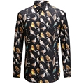 2017 New Birds Printing Flower Men Shirt Fashion Casual Designer Brand Chemise Homme T0156