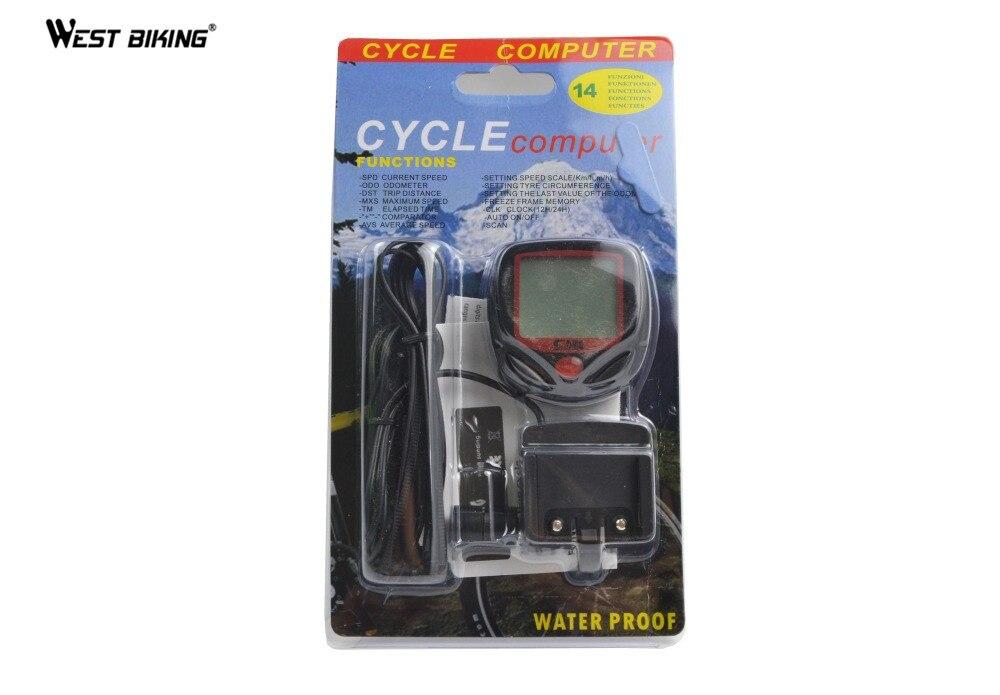 WEST RADFAHREN Radfahren Computer 14 Funktionen Wasserdichte ...