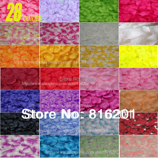 38 colors!1000pcs/lot Wedding Decorations Fashion Atificial Flowers Wholesale Polyester Wedding Rose Petals