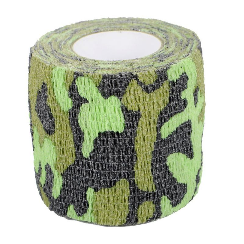 Good! Outdoor Camouflage Waterproof Belt Rifle Self-Adhesive Non-Woven Camouflage Tape Wrapped Rifle Shooting Rn