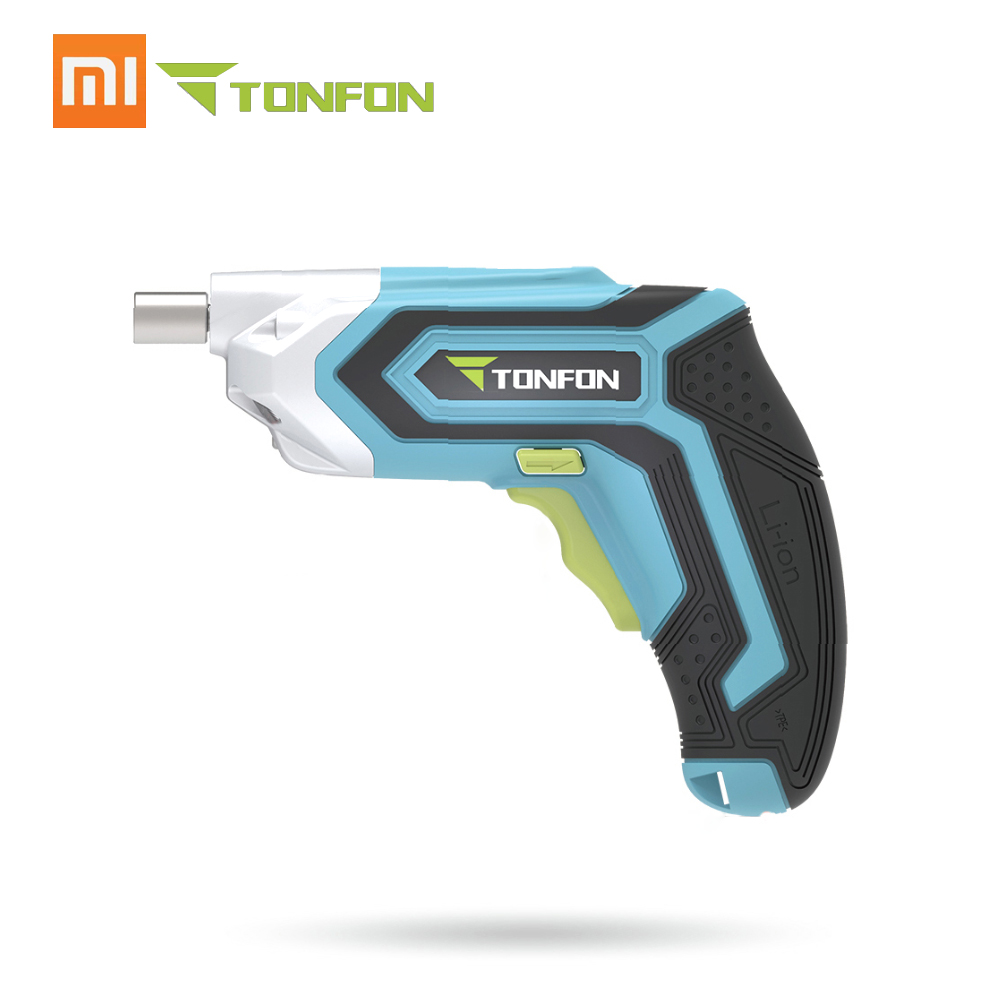 Xiaomi Mijia Tonfon Wireless Electric Cordless Drill Impact Gun Gill Power Screwdriver+Bits 1500mAh Rechargeable Battery image