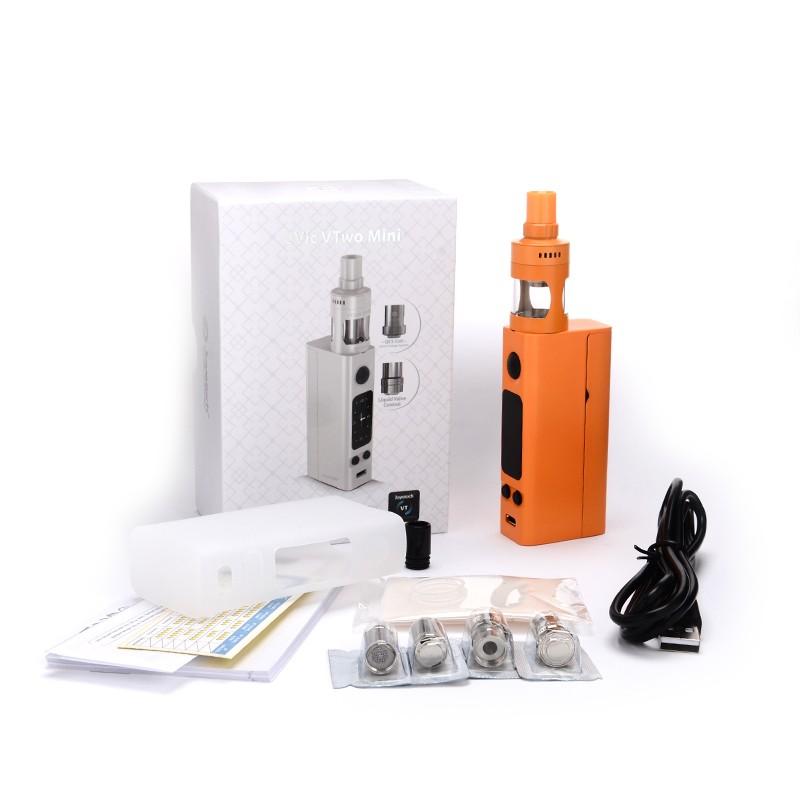 100% Original Joyetech eVic VTwo Mini With Cubis Pro Kit 75W box Mod Temp Control elektronik cigarette Updated Evic VTC Mini Kit-5